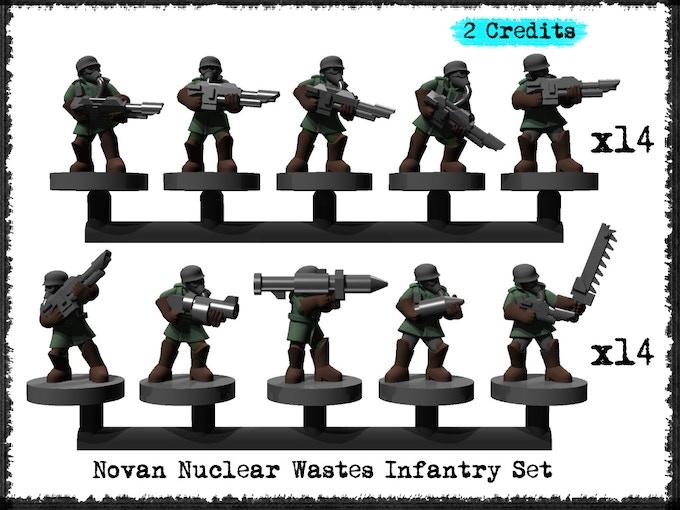 Novan Nuclear Wastes Infantry Set - Metal