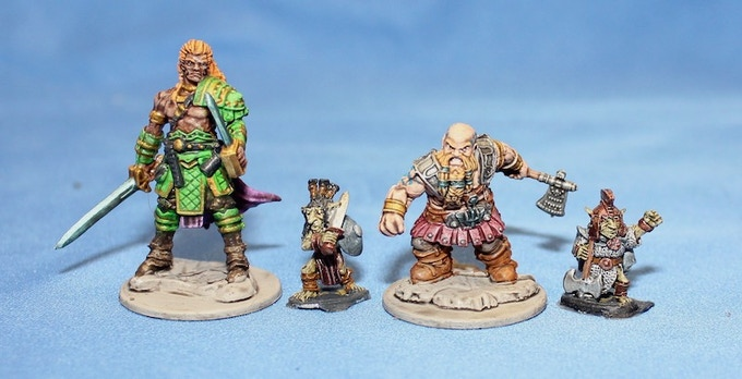Lesser Goblins with Plastic D&D Miniatures