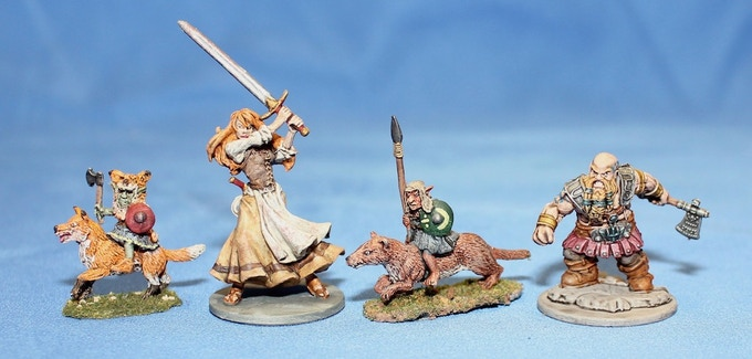 Lesser Goblin Cavalry Types with 28mm Heroes