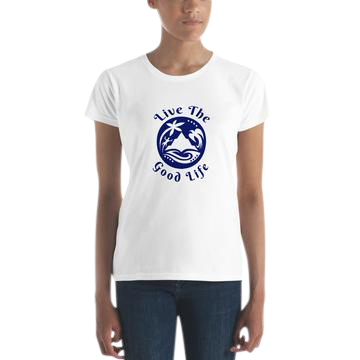 "Womens T-Shirt from the growing Apparel Collection ""Good Life-Good Fun"" offered in the higher level sponsorships."
