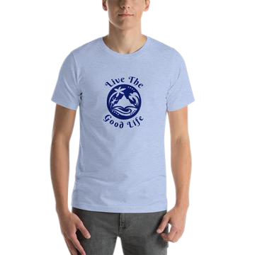 "Mens T-shirt from the growing apparel collection ""Good Life-Good Fun"" offered with the higher level sponsorships."