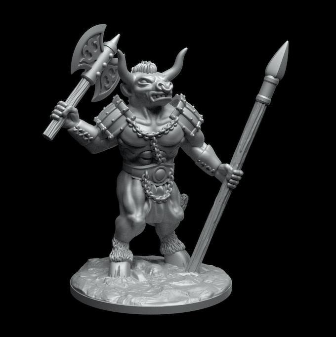 Minotaur prototype sculpt.