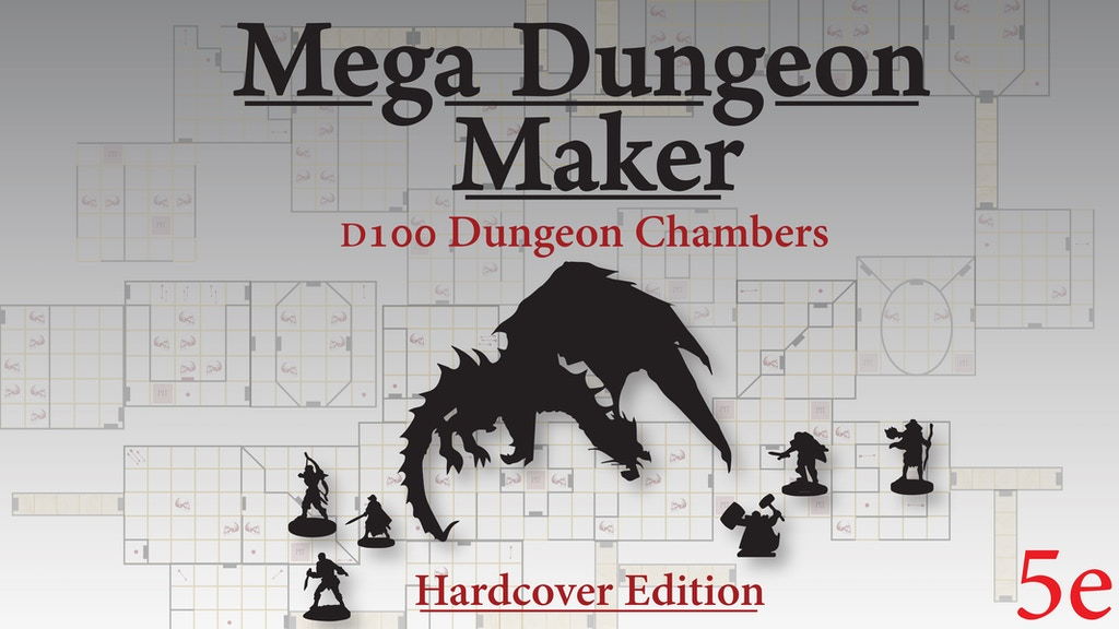 Mega Dungeon Maker D100 Random Maze Generator for 5e + more project video thumbnail