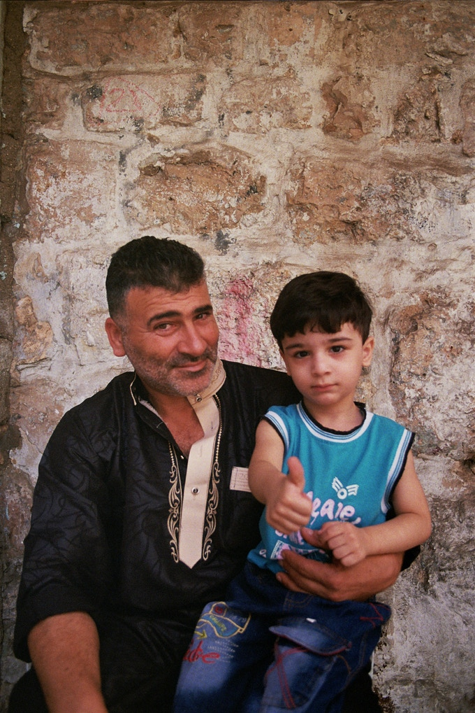 A father and his son, Nablus