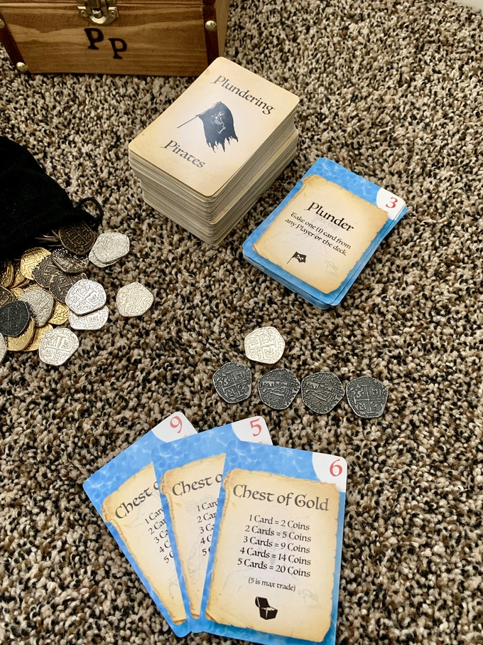 Three (3) Chest of Gold Cards = 9 Coins   (Limited Collector's Edition Shown)