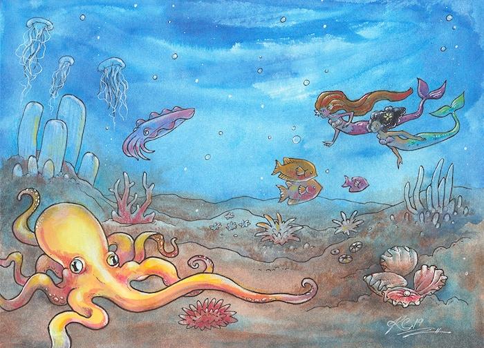 A Mermaid\'s Kitty Coloring Book - Make 100 by Kat Crow — Kickstarter