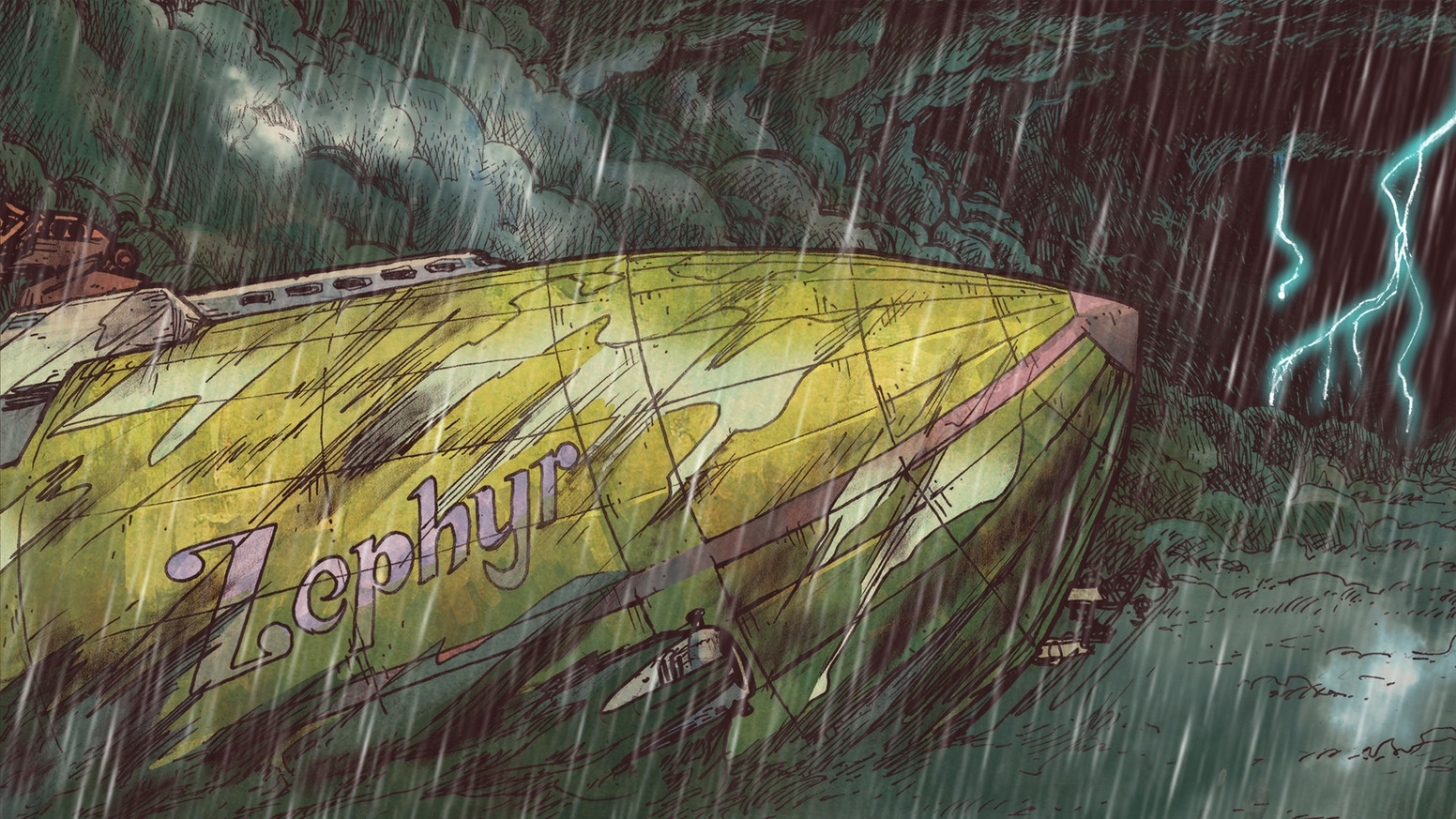 The crew of the Zephyr embarks into the Expanse in the fifth installment of the dieselpunk airship adventure and Kickstarter original.