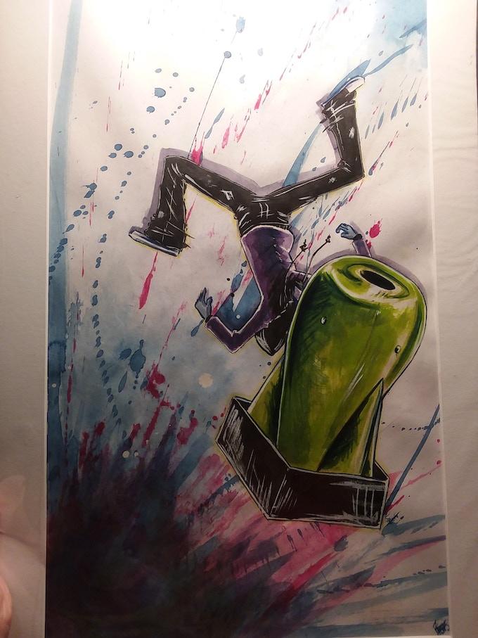 Full Body Adam Watercolor Portrait, for the $350 reward tier!
