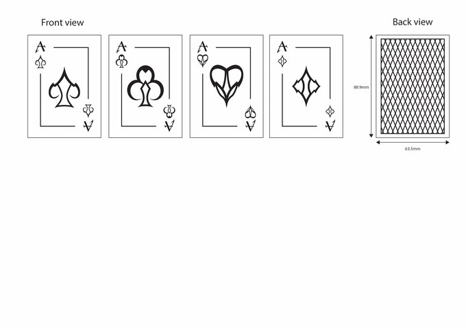 Designs for Aces and back of cards