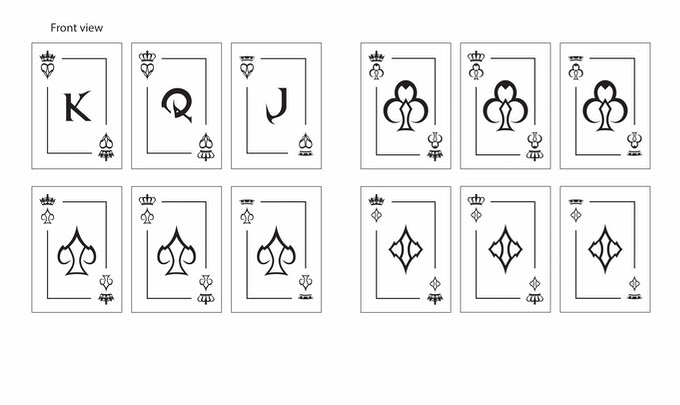 Designs for Face/Court Cards
