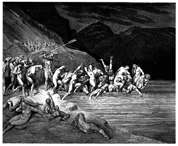 Gustave Doré - Dante's Divine Comedy: Hell - Purgatory - Paradise. Illustrations by Gustave Doré, Translation by Henry W. Longfellow, Published by Arcturus Books, 2007.