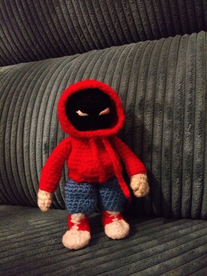 Hoody knit doll that, comes with the $60 tier
