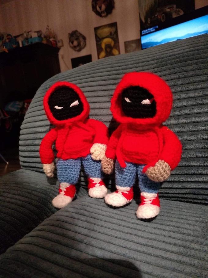 Hoody knit dolls, $90 tier
