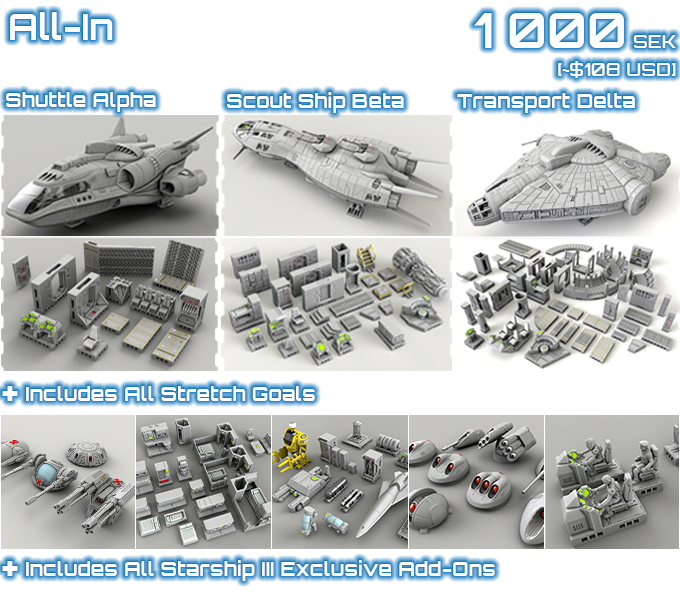 Fully 3D Printable 28mm Spaceships By 2nd