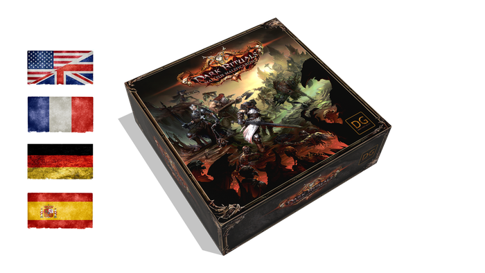 1-4 Heroes battle the Witch Master in this miniatures based board game set in a magic infused Middle Ages realm.