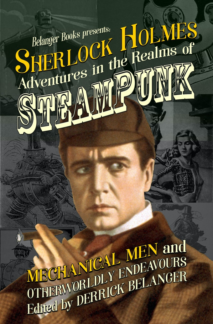 The cover to the second volume of Sherlock Holmes: Adventures in the Realms of Steampunk