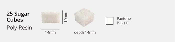 Snapshot from our new spec sheet of the final white sugar cubes.