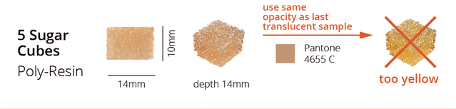 "Snapshot from our new spec sheet of the requested brown sugar cube sample (1 of 2) aka ""rustic brown""."