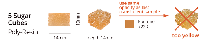 "Snapshot from our new spec sheet of the requested brown sugar cube sample (2 of 2) aka ""golden orange""."