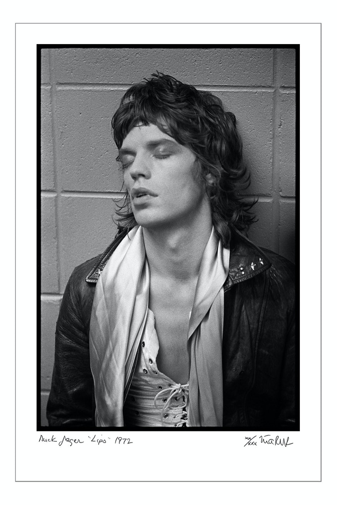 "Mick Jagger ""Lips"" 1972. Signed, limited edition, digital archival print. Limit 4 (16x20 choice)"