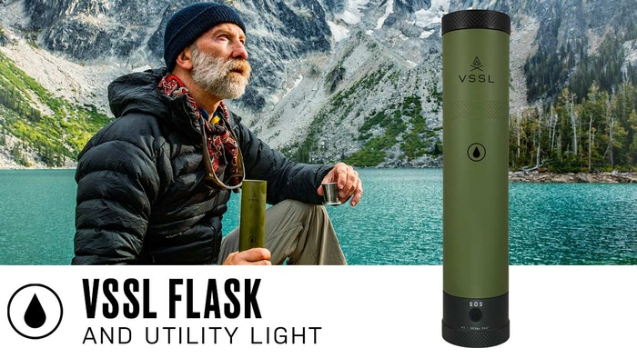 VSSL (pron. vessel) Flask is the world's first, nearly indestructible, dual mode flashlight designed to safely hold your booze.