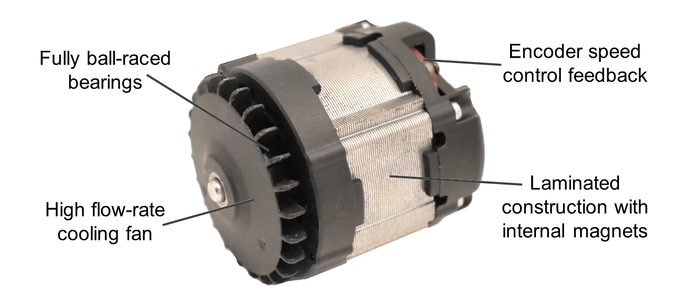 High-performance KwikPro Gold Diamond and Gold brushless motor