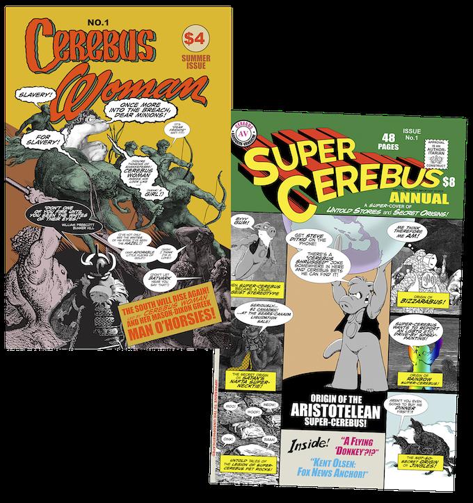 Super Cerebus and Cerebus Woman