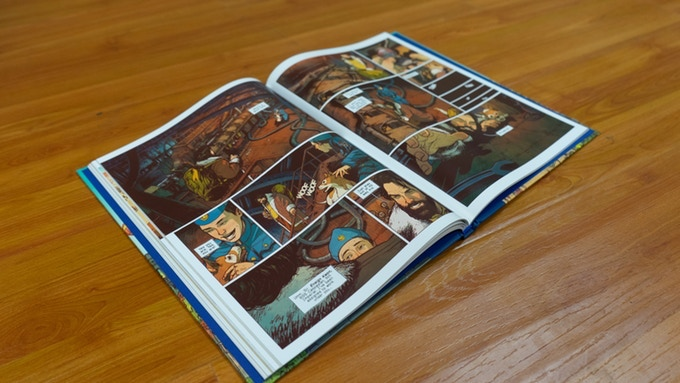 Interior of Book I featuring issue four.