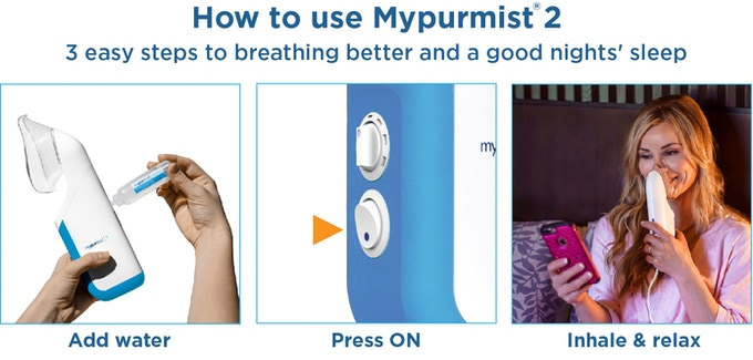 Mypurmist 2 - Personal Humidifier & Air Purifier by Vapore, LLC