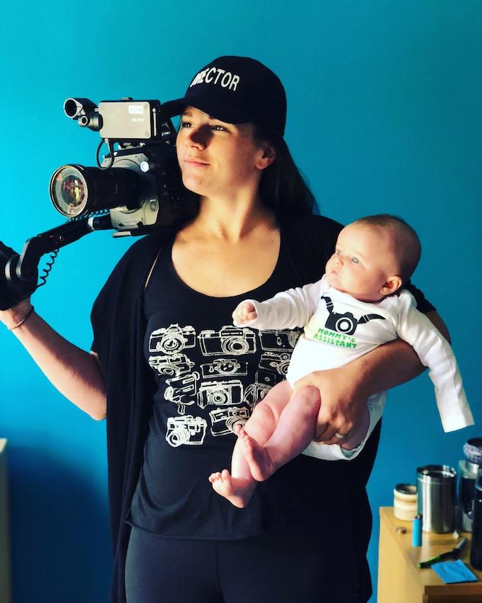 Director Sarah Moshman and her daughter Bryce