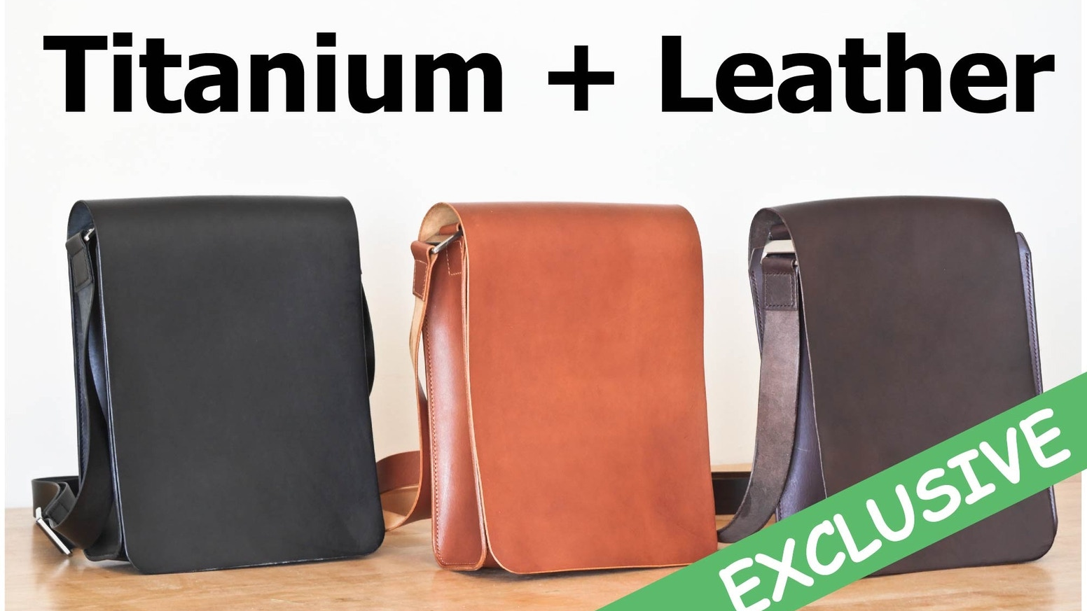 Handmade Leather Bag With Custom-Made Titanium Components For Your Everyday Carry - EDC .... Hand-stitched and Made To Last a lifetime!