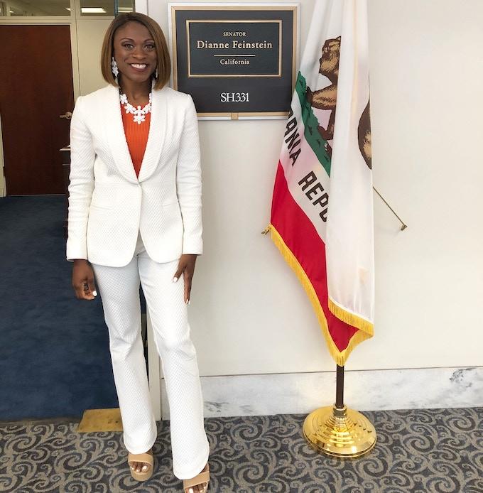 Meeting with Diane Feinstein's legislative team on Capitol Hill