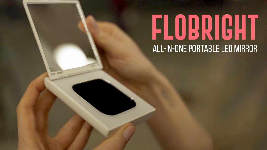 FLOBRIGHT: 2-In-1 PORTABLE LED LIGHT MIRROR & CHARGER