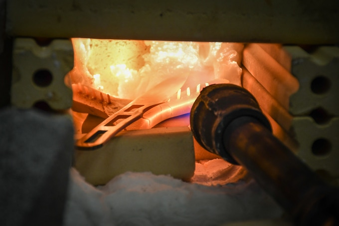 Experiments with heat treating.