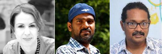 L to R: Lesley, Srini, Aravindan