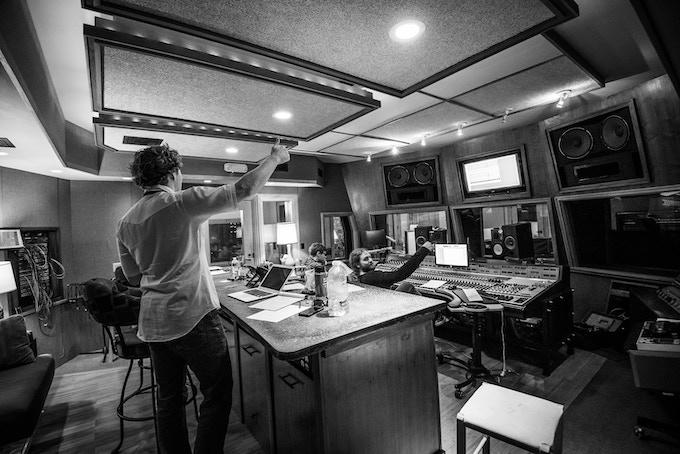Producer Travis Book, Lead Engineer Julian Dreyer, and Asst. Engineer Kenny Harrington in the Control Room   Photo Credit: David Simchock