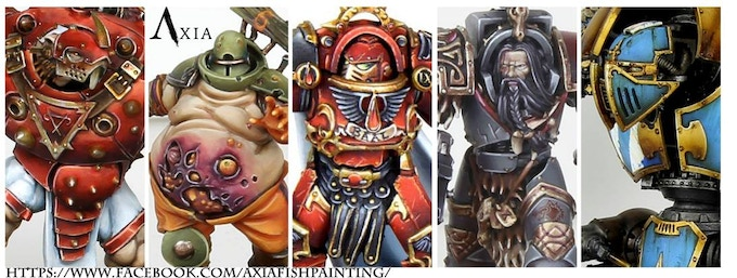 Games Workshop models and Forge World... are shown only for an example of painting, no association is intended.