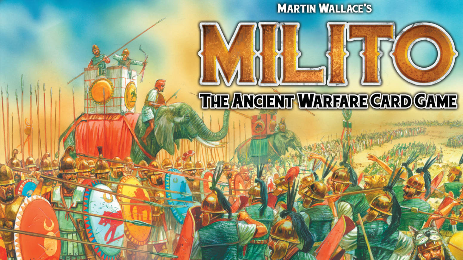 Milito is a card-based, diceless wargame by Martin Wallace, putting you at the head of an Ancient army.