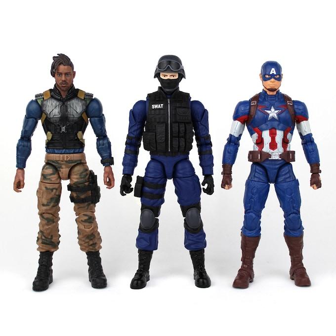 "Comparison with 6"" Marvel Legends"