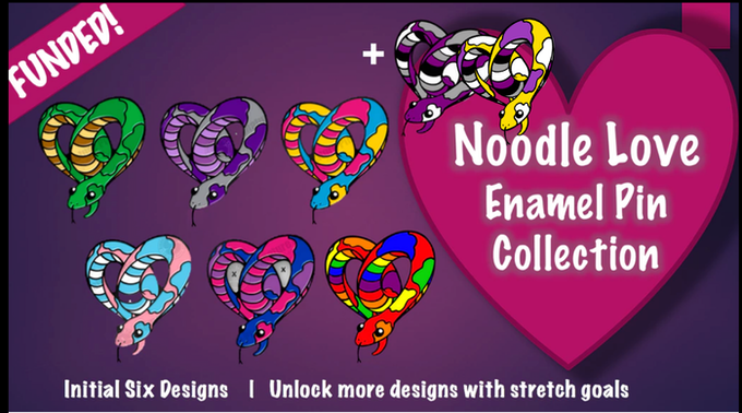 The initial six designs + two unlocked designs! More can be unlocked with stretch goals!