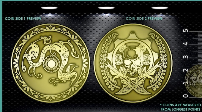 """AGZ """"Universal Shield & Weapon"""" Coin"""