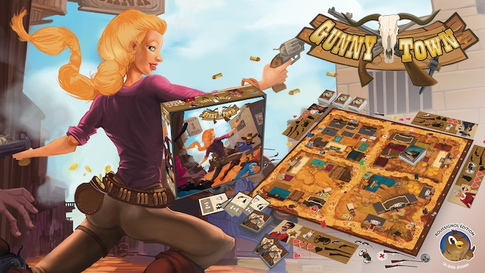 A dynamic boardgame which takes place in the far west. No dice to roll or card to draw before playing, you're completely free !
