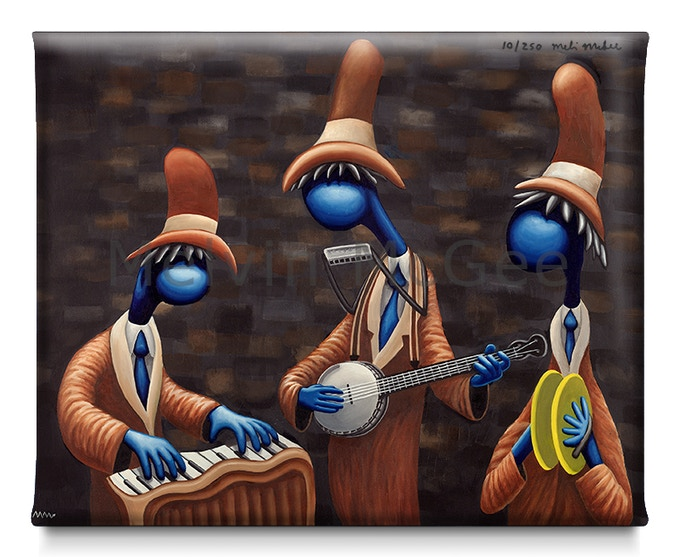 Blue Band Trio (Available in Small Canvas, Medium Canvas, Large Canvas)