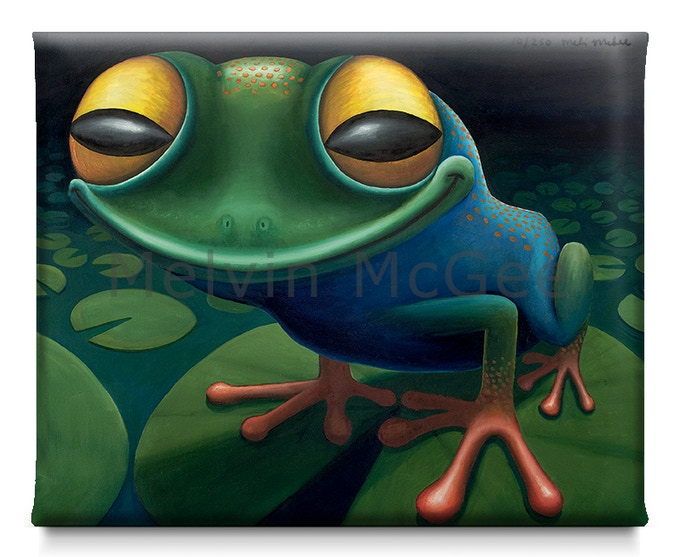 Happy Frog  (Available in Small Canvas, Medium Canvas, Large Canvas)