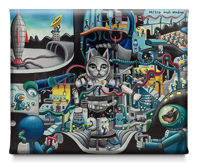 Major Major Tom Cat (Available in Small Canvas, Medium Canvas, Large Canvas, Extra Large Canvas)