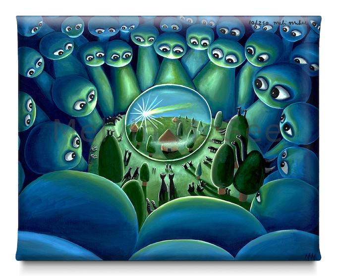 Alien Ark (Available in Small Canvas, Medium Canvas, Large Canvas)