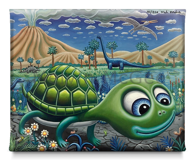 The Slow Moving Creatures Quickly Became Friends (Available in Small Canvas, Medium Canvas, Large Canvas)