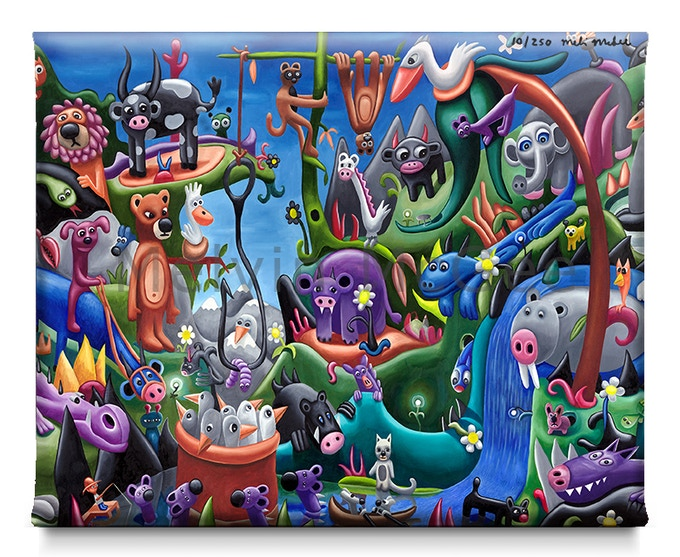 Secret Jungle (Available in Small Canvas, Medium Canvas, Large Canvas, Extra Large Canvas)