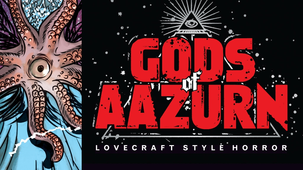 GODS OF AAZURN Creepy, Cosmic Horror Comics, Lovecraft Style project video thumbnail