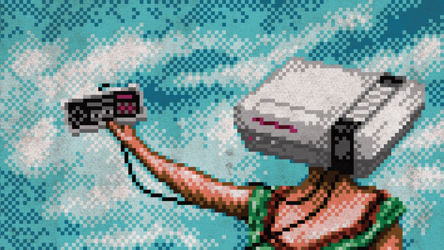 """A chiptune arrangement of Neutral Milk Hotel's """"In The Aeroplane Over The Sea"""" using a Nintendo, pressed to vinyl record."""